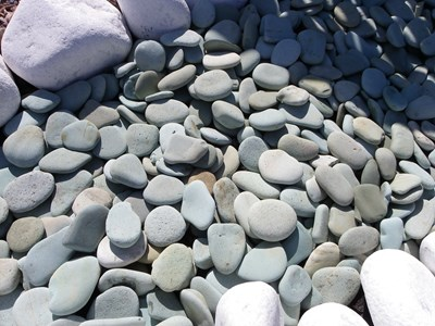 Beautiful Flat Green Pebbles (OUT OF STOCK)