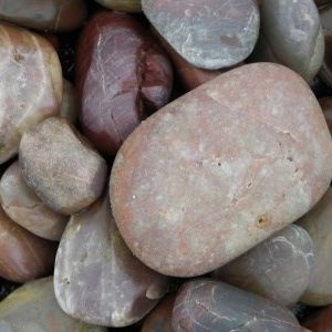 Red Polished Pebbles