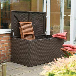 Brown Metal Deck Box