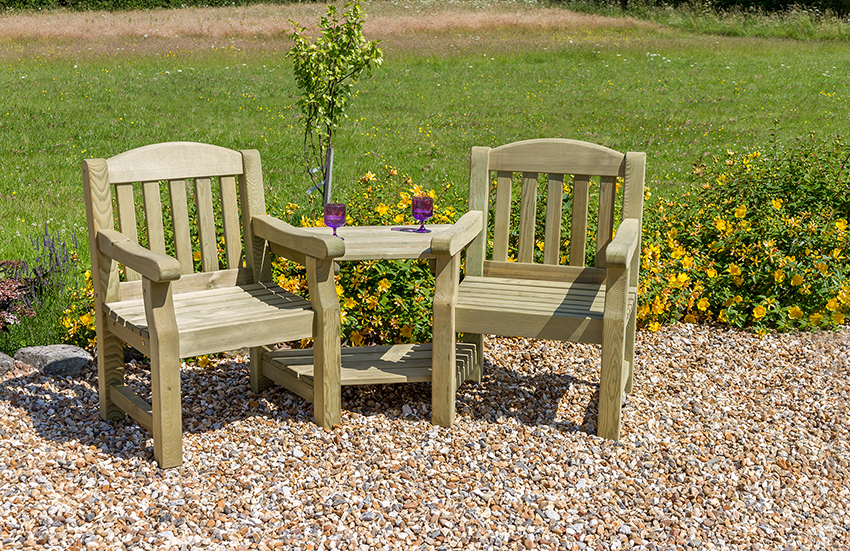 emily love seat - Wooden Garden Furniture Love Seats