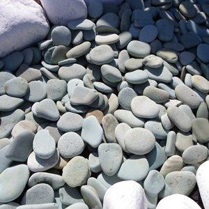 Flat Green Pebbles