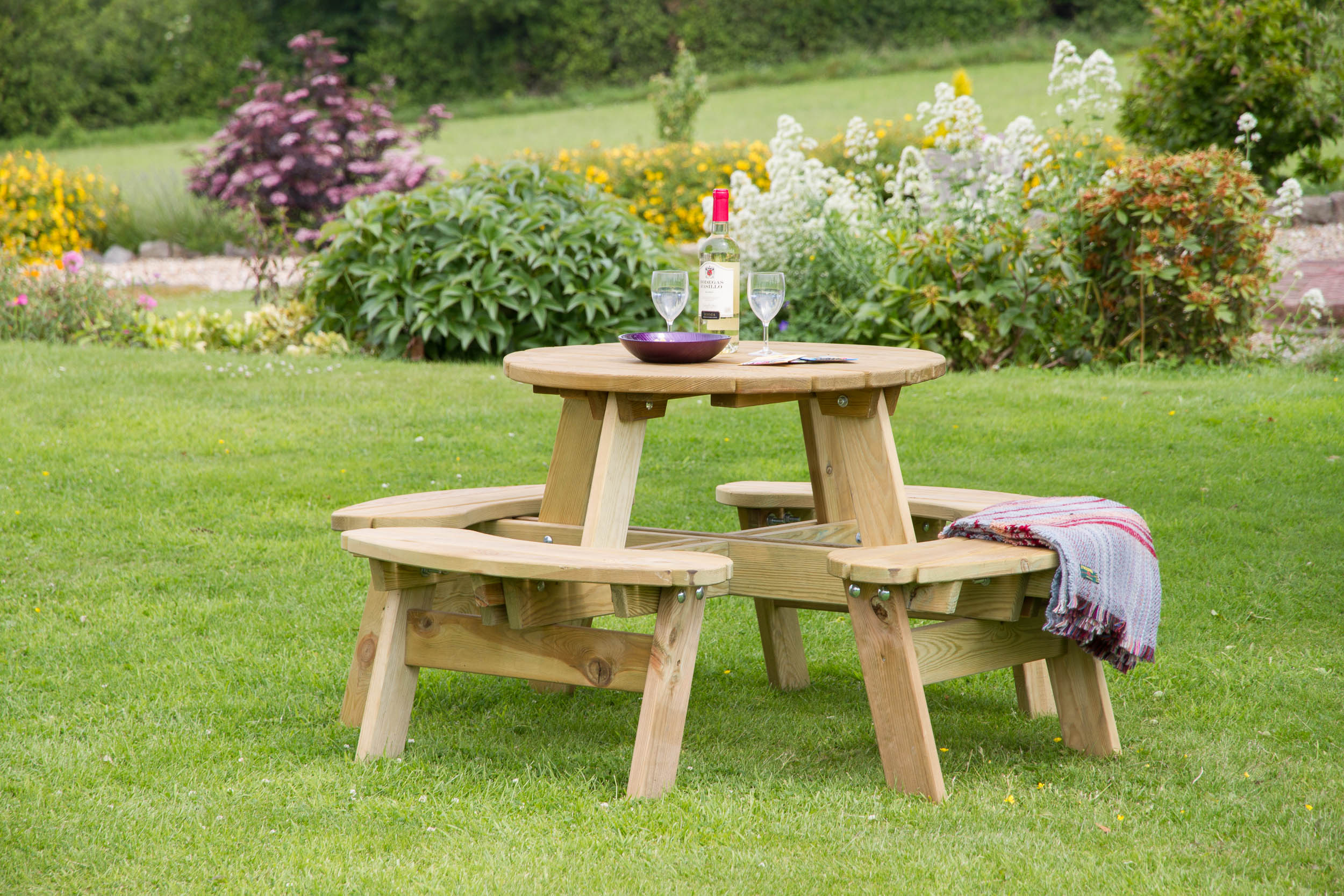 Enjoyable Katie Round Picnic Table Pabps2019 Chair Design Images Pabps2019Com
